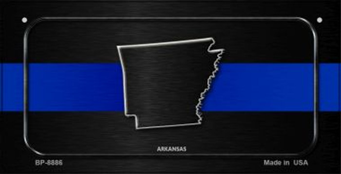 Arkansas Thin Blue Line Novelty Wholesale Bicycle License Plate BP-8886