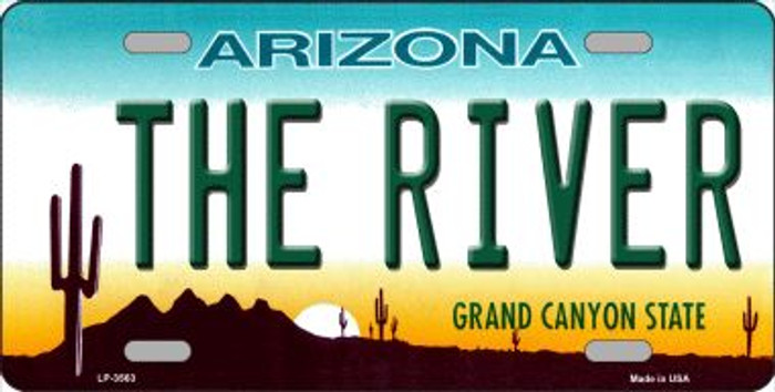 The River Arizona Novelty Wholesale Metal License Plate