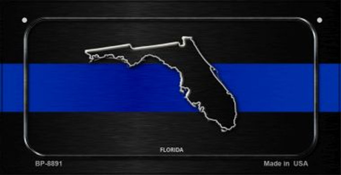 Florida Thin Blue Line Novelty Wholesale Bicycle License Plate BP-8891