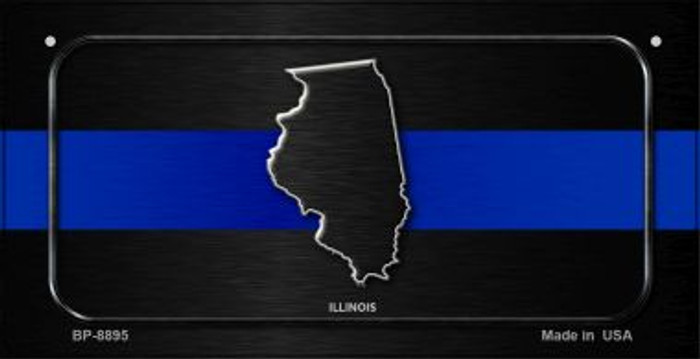 Illinois Thin Blue Line Novelty Wholesale Bicycle License Plate BP-8895