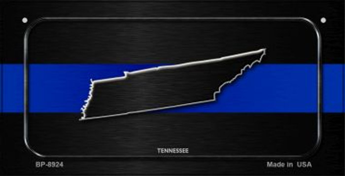 Tennessee Thin Blue Line Novelty Wholesale Bicycle License Plate BP-8924