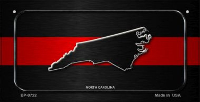 North Carolina Thin Red Line Novelty Wholesale Bicycle License Plate BP-9722