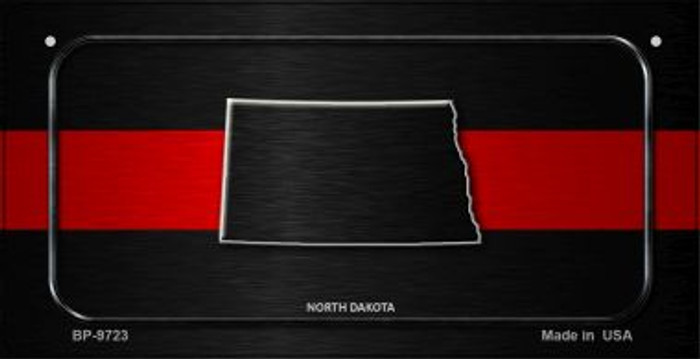North Dakota Thin Red Line Novelty Wholesale Bicycle License Plate BP-9723