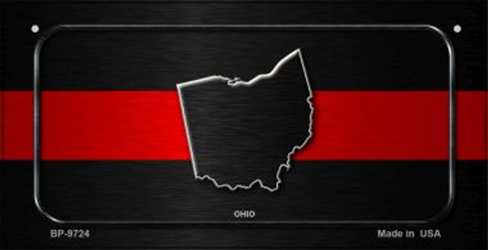 Ohio Thin Red Line Novelty Wholesale Bicycle License Plate BP-9724