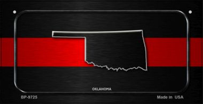 Oklahoma Thin Red Line Novelty Wholesale Bicycle License Plate BP-9725