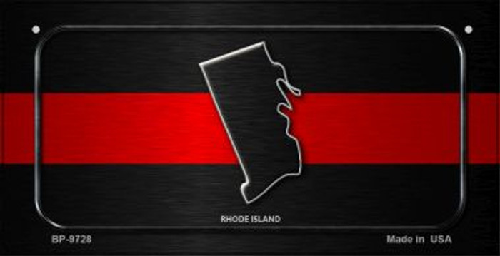 Rhode Island Thin Red Line Novelty Wholesale Bicycle License Plate BP-9728