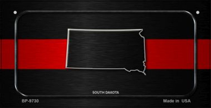 South Dakota Thin Red Line Novelty Wholesale Bicycle License Plate BP-9730