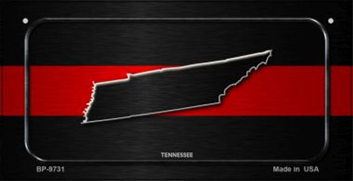 Tennessee Thin Red Line Novelty Wholesale Bicycle License Plate BP-9731
