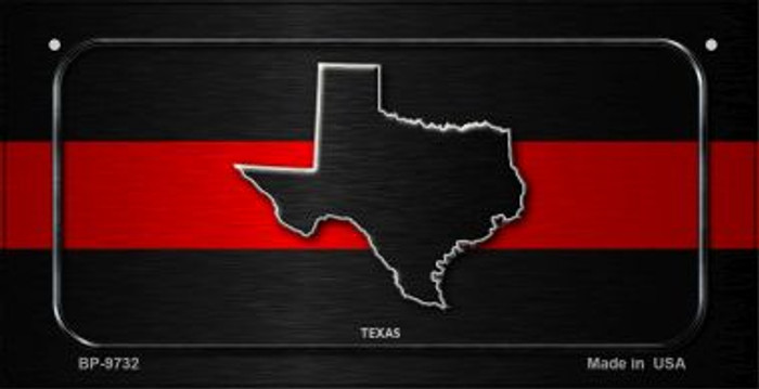 Texas Thin Red Line Novelty Wholesale Bicycle License Plate BP-9732