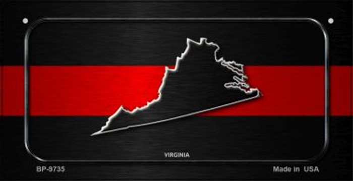 Virginia Thin Red Line Novelty Wholesale Bicycle License Plate BP-9735