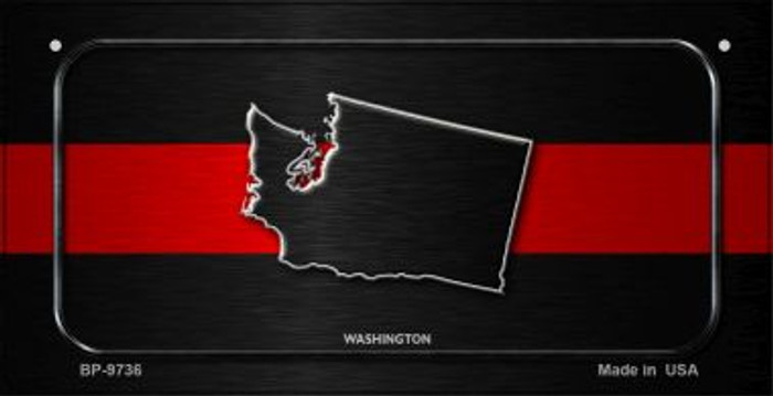 Washington Thin Red Line Novelty Wholesale Bicycle License Plate BP-9736