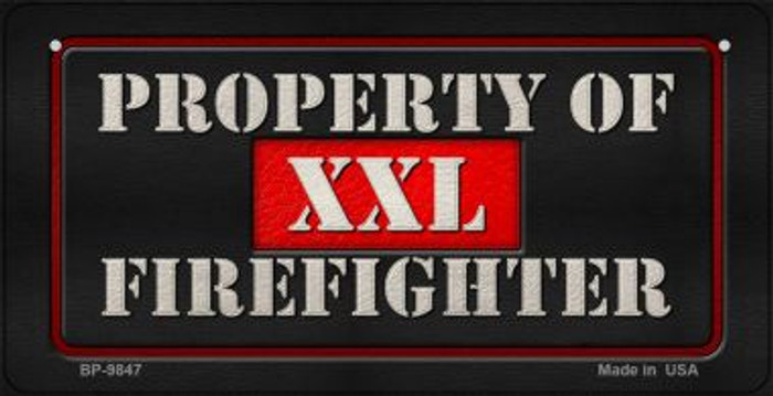 XXL Firefighter Novelty Wholesale Bicycle License Plate BP-9847
