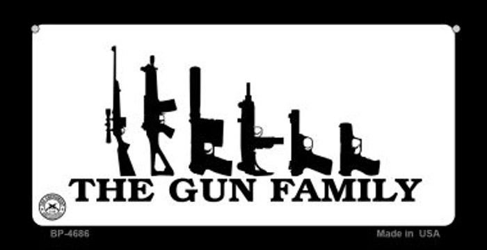 The Gun Family Wholesale Bicycle Plate BP-4686