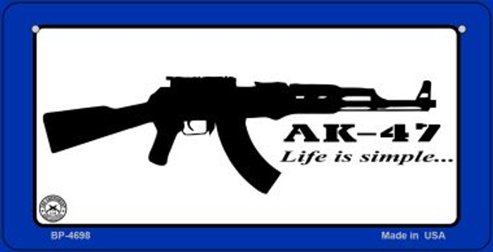 AK-47 Life is Simple Wholesale Bicycle Plate BP-4698