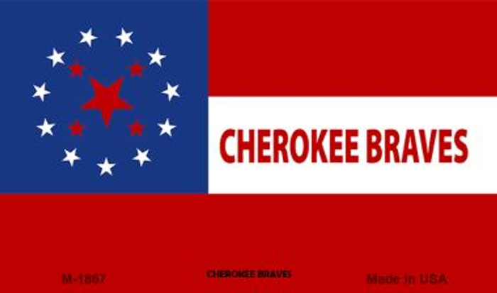 Cherokee Braves Tribe Novelty Wholesale Magnet M-1867
