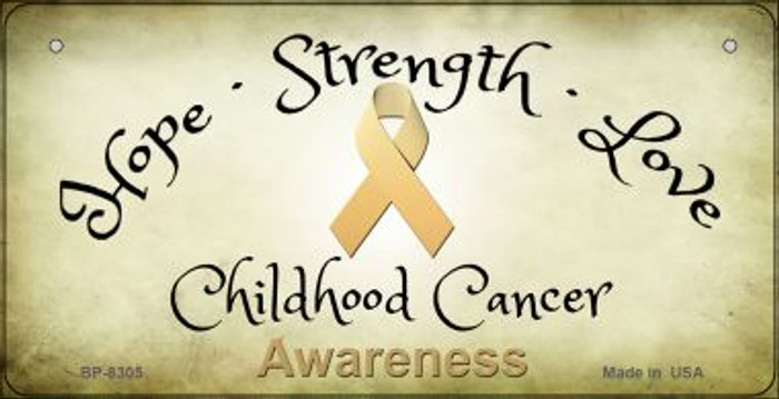 Childhood Cancer Ribbon Novelty Wholesale Bicycle Plate BP-8305