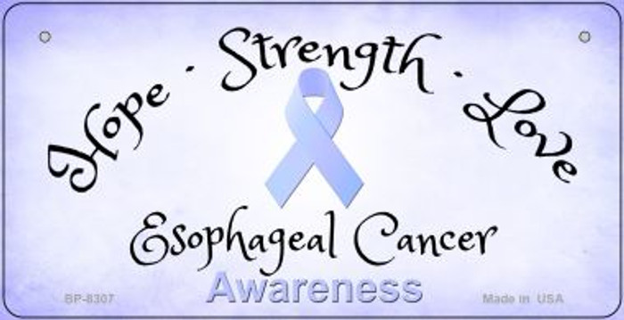 Esophageal Cancer Ribbon Novelty Wholesale Bicycle Plate BP-8307