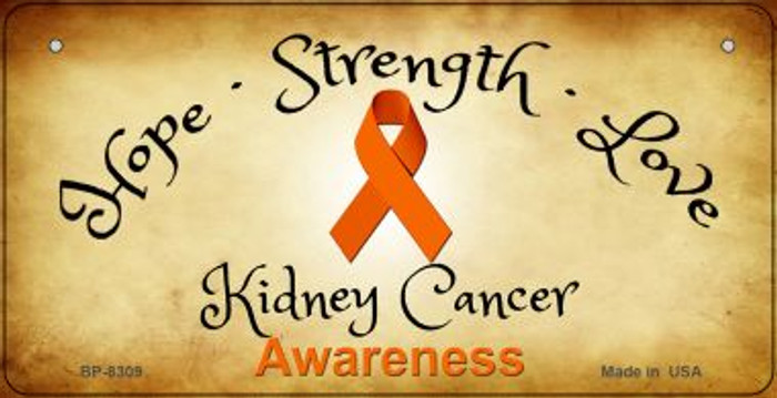 Kidney Cancer Ribbon Novelty Wholesale Bicycle Plate BP-8309