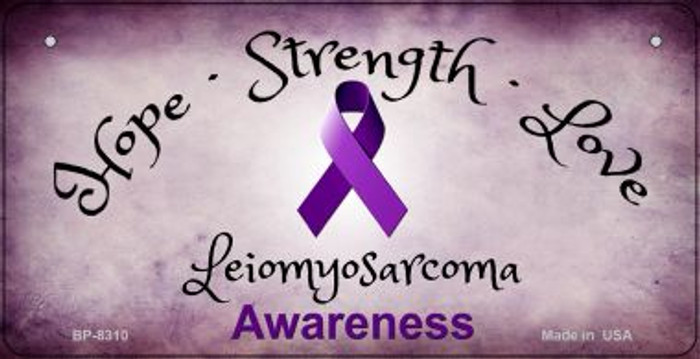 Leiomyosarcoma Cancer Ribbon Novelty Wholesale Bicycle Plate BP-8310