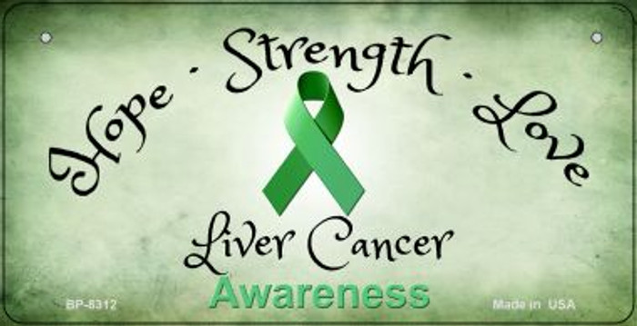 Liver Cancer Ribbon Novelty Wholesale Bicycle Plate BP-8312