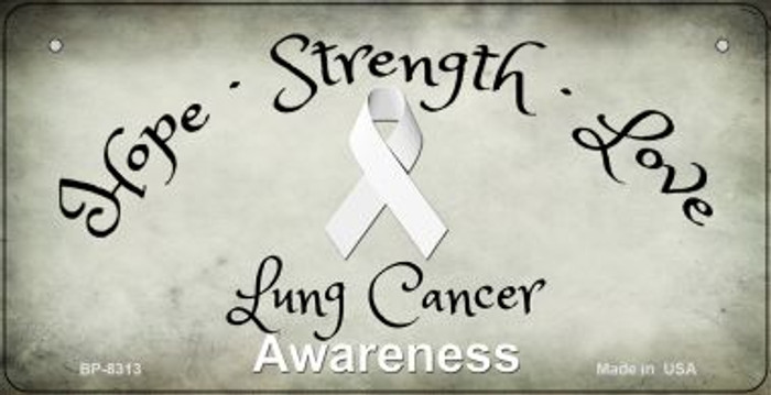Lung Cancer Ribbon Novelty Wholesale Bicycle Plate BP-8313