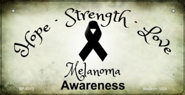 Melanoma Ribbon Novelty Wholesale Bicycle Plate BP-8315