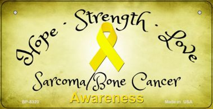 Sarcoma Bone Cancer Ribbon Novelty Wholesale Bicycle Plate BP-8320