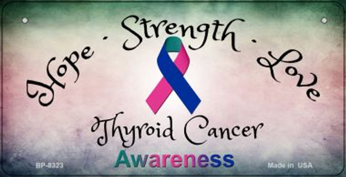 Thyroid Cancer Ribbon Novelty Wholesale Bicycle Plate BP-8323