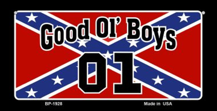 Good Ol Boys Confederate Flag Novelty Wholesale Bicycle Plate BP-1928