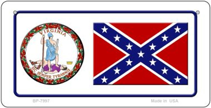 Confederate Virginia Novelty Wholesale Bicycle Plate BP-7997