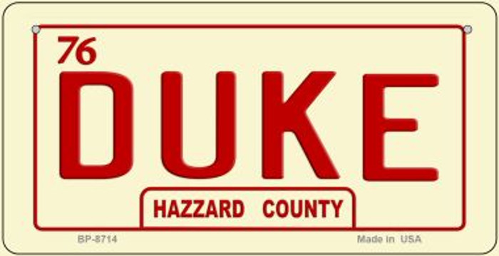 Duke Novelty Wholesale Bicycle Plate BP-8714
