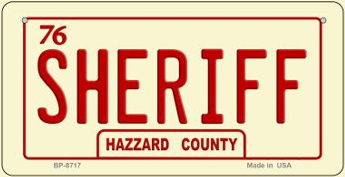 Sheriff Novelty Wholesale Bicycle Plate BP-8717