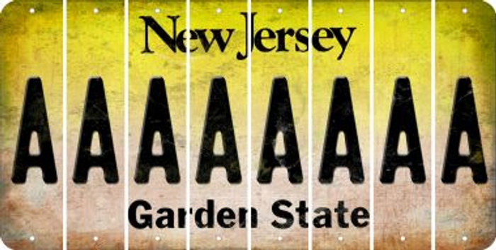 Letter A Novelty Wholesale Cut License Plate Strips (Set of 8)