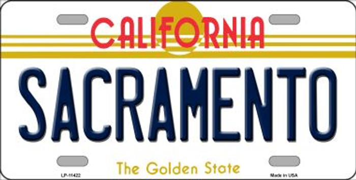 Sacramento California Novelty Wholesale License Plate LP-11422