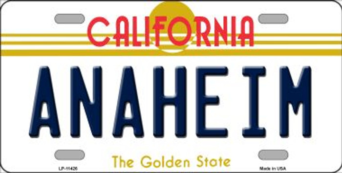 Anaheim California Novelty Wholesale License Plate LP-11426