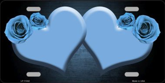 Hearts Over Roses In Light Blue Wholesale Novelty License Plate LP-11442