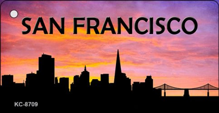 San Francisco Silhouette Wholesale Key Chain KC-8709