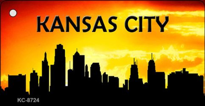 Kansas City Silhouette Wholesale Key Chain KC-8724