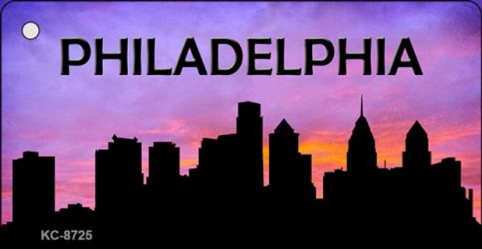 Philadelphia Silhouette Wholesale Key Chain KC-8725