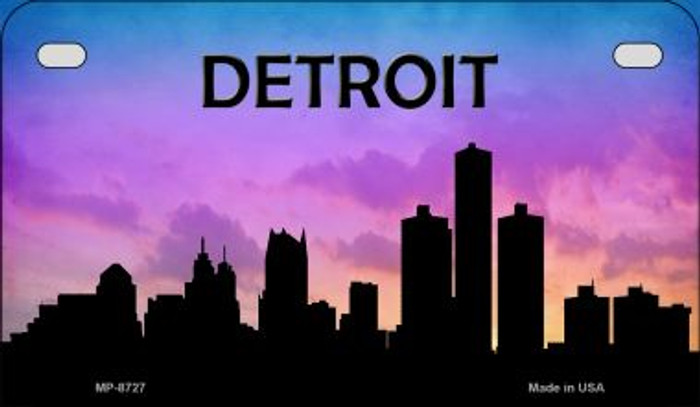 Detroit Silhouette Motorcycle License Plate MP-8727