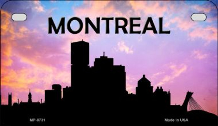 Montreal Silhouette Motorcycle License Plate MP-8731