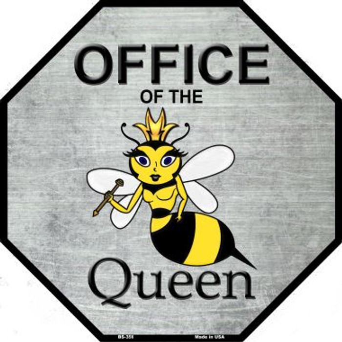 Office of the Queen Wholesale Metal Novelty Octagon Stop Sign BS-356