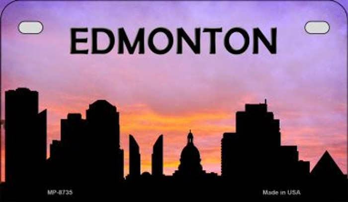 Edmonton Silhouette Motorcycle License Plate MP-8735