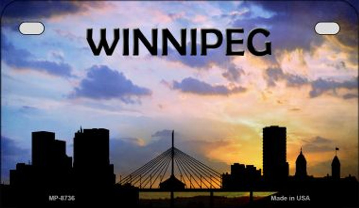 Winnipeg Silhouette Motorcycle License Plate MP-8736