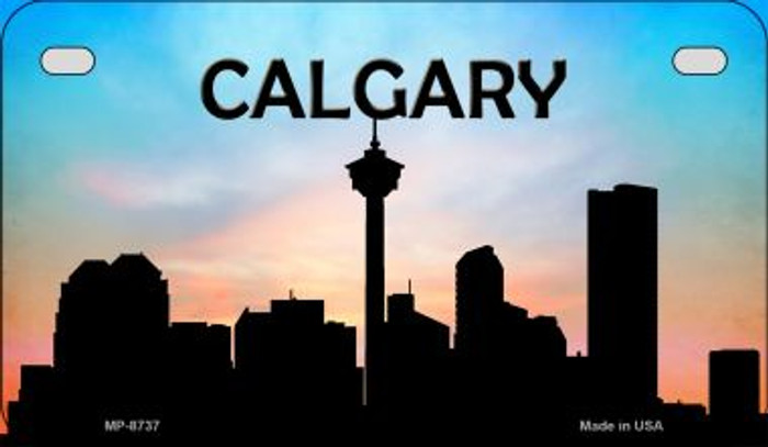 Calgary Silhouette Motorcycle License Plate MP-8737