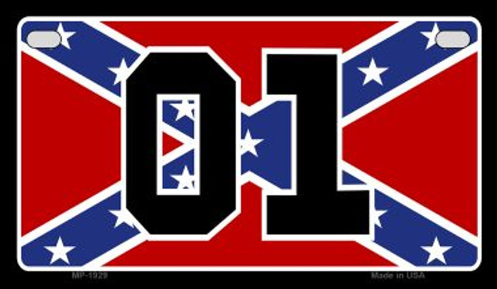 01 Confederate Flag Novelty Wholesale Motorcycle License Plate MP-1929