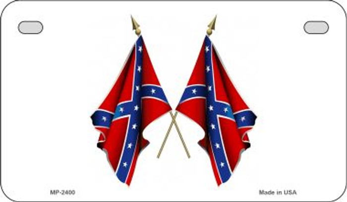 Confederate Waving Flags Novelty Wholesale Motorcycle License Plate MP-2400