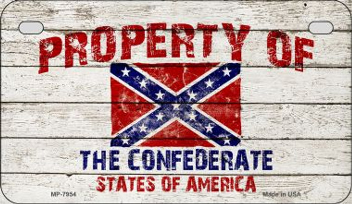 Property of Confederate States Novelty Wholesale Motorcycle License Plate MP-7954