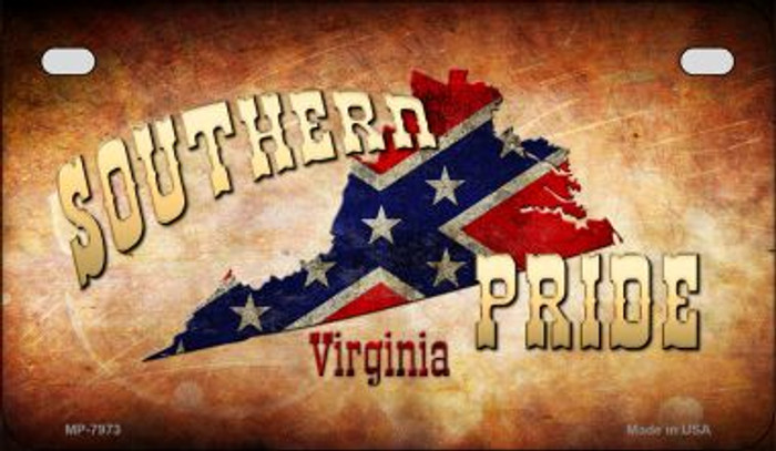 Southern Pride Virginia Novelty Wholesale Motorcycle License Plate MP-7973