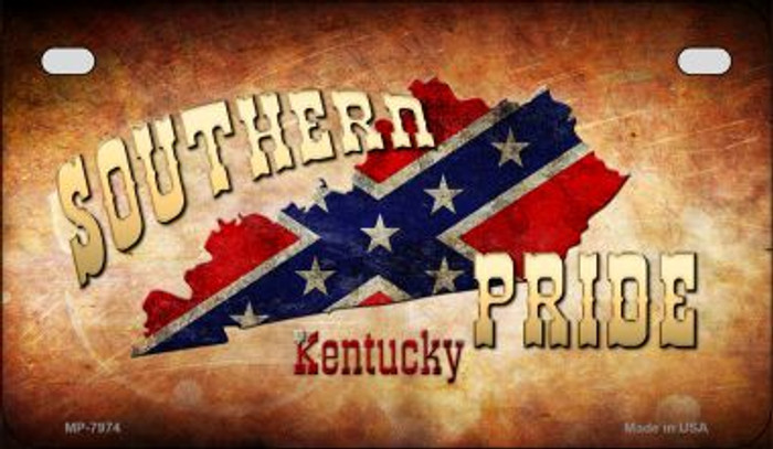 Southern Pride Kentucky Novelty Wholesale Motorcycle License Plate MP-7974